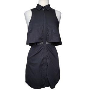 TOBI DARYN COLLARED Dress Mini Sleeveless Zip Up
